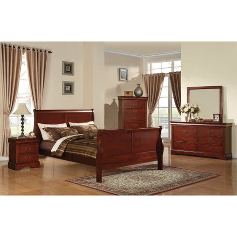 Louis Philippe III Cherry Wood Bed