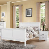 Louis Philippe III White Wooden Bed