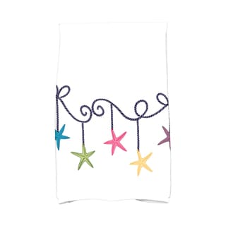 16 x 25-inch, Starfish Ornaments, Holiday Geometric Print Kitchen Towel