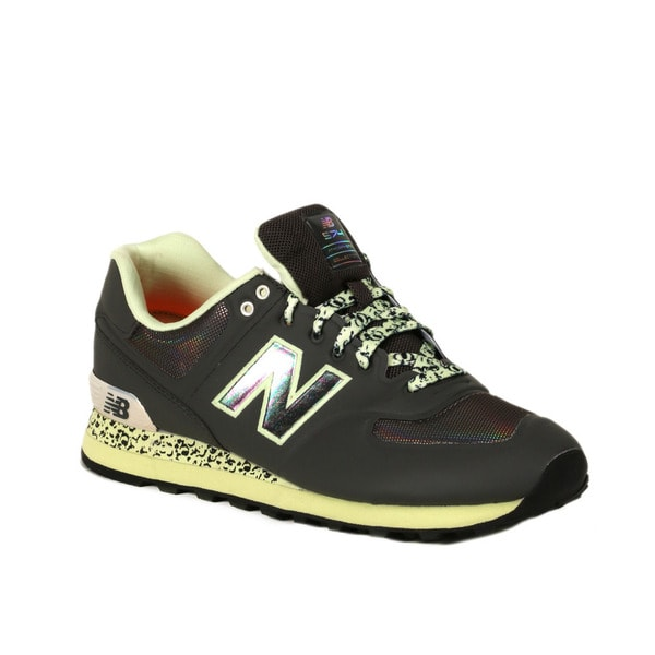 Limited edition leopard New Balance 574 black women | New