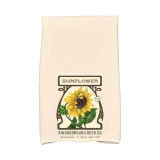 16 x 25-inch, Sunflower, Floral Print Kitchen Towel