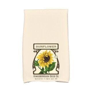 16 x 25-inch, Sunflower, Floral Print Kitchen Towel