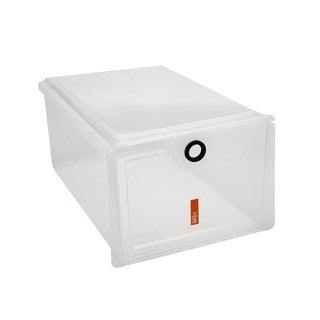 Simplify Clear Stackable Shoe Box