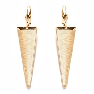 Gold-plated Triangle Drop Earrings