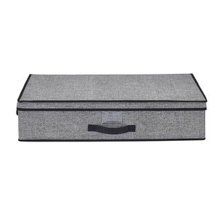 Simplify Under-the-bed Black and Grey Storage Box