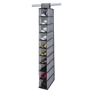Simplify Black Plastic 10-shelf Non-woven Shoe Organizer