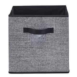 Simplify Black Plastic Storage Cube
