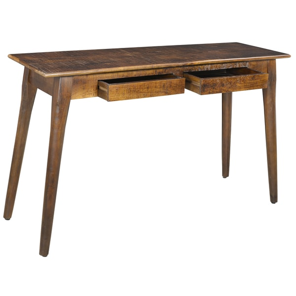 Tal 2 drawer solid mango wood console table free for 65 sofa table