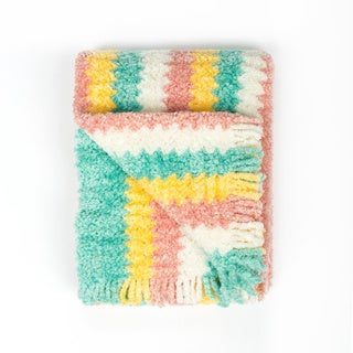 PashmereBaby Multicolor 26-inch x 36-inch Swirl Pattern Baby Blanket