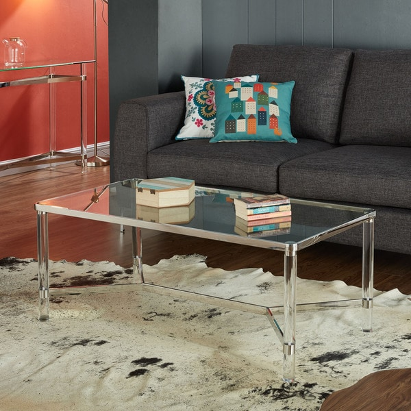 Amazing Morelia Mixed Media Metal, Glass And Acrylic Coffee Table