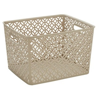 Simplify Champagne Large Trellis Storage Tote