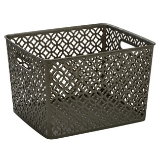 Simplify Pewter Large Trellis Storage Tote