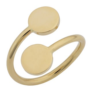 Fremada 14k Yellow Gold High Polish Double Disc Bypass Ring