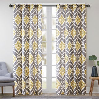 Madison Park Mika Printed Ikat Curtain Panel