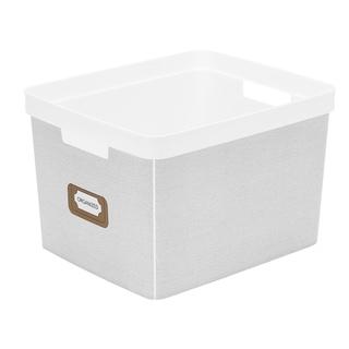 Simplify White Linen Basics Large Resin Tote