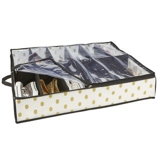 The Macbeth Collection White/Goldtone 12-pair Under-the-bed Storage Box