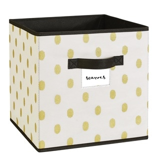 The Macbeth Collection White/Gold Storage Cube