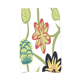 16 x 25-inch, Tropical Floral, Floral Print Kitchen Towel