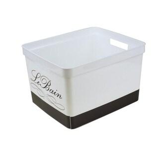 Simplify White Plastic Large Bathroom Organizer Tote