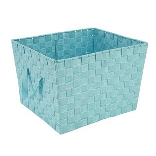 Simplify Mint Large Woven Strap Storage Tote