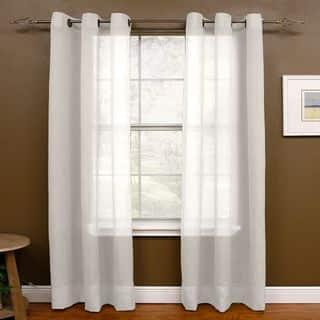 Miller Curtains Preston 63-Inch Grommet Sheer Panel - 48 x 63|https://ak1.ostkcdn.com/images/products/12314571/P19148319.jpg?impolicy=medium