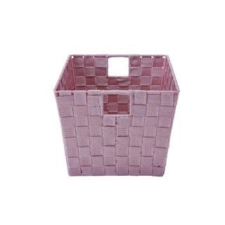 Simplify Medium Rosequartz Woven Strap Storage tote