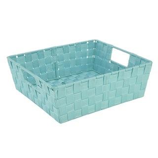 Simplify Large Mint Lurex Striped Woven Strap Shelf Tote