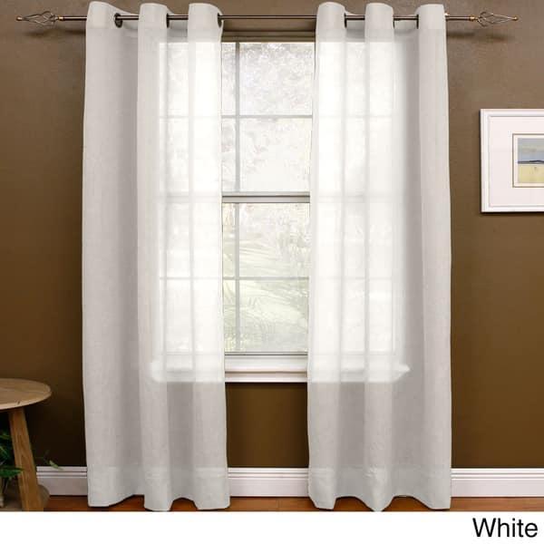 Miller Curtains Preston 108 Inch Sheer Grommet Panel