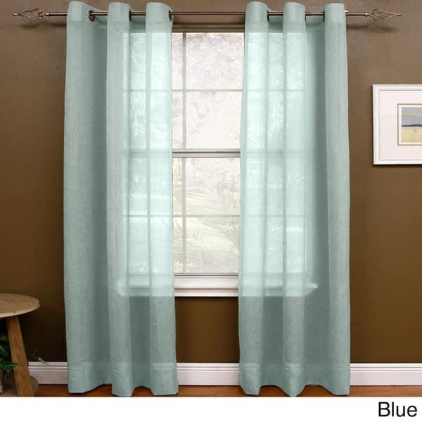 Miller Curtains Preston 108 Inch Sheer Grommet Panel 48 X 108 48 X 108 On Sale Overstock 12314598