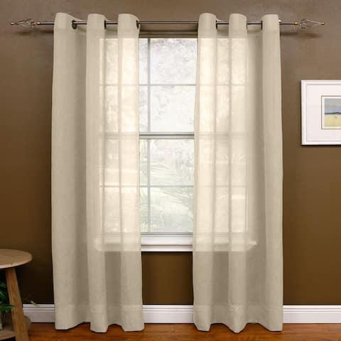 Miller Curtains 95-inch Preston Grommet Sheer Panel - 48 x 95 - 48 x 95