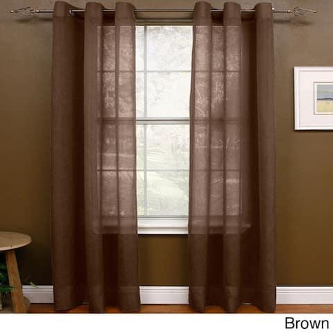 Miller Curtains 95-inch Preston Grommet Sheer Panel - 48 x 95