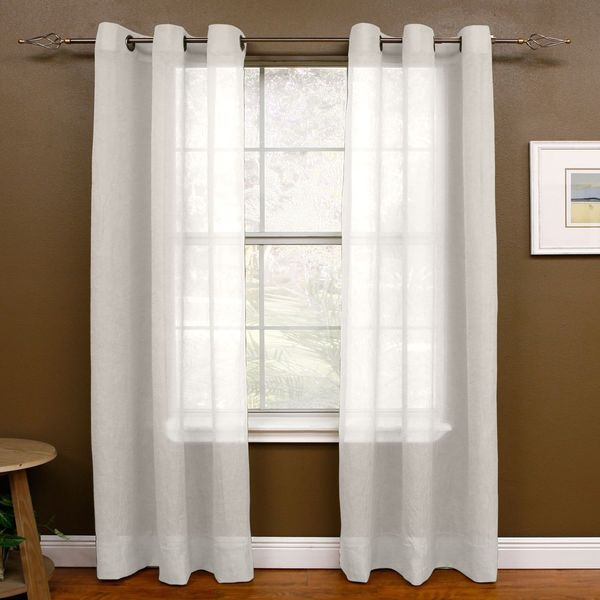 shop miller curtains preston 48 x 84 inch grommet top sheer panel on sale free shipping on. Black Bedroom Furniture Sets. Home Design Ideas