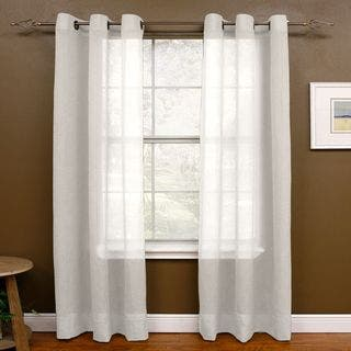 Miller Curtains Preston 84-inch Grommet-top Sheer Panel - 48 x 84|https://ak1.ostkcdn.com/images/products/12314609/P19148321.jpg?impolicy=medium
