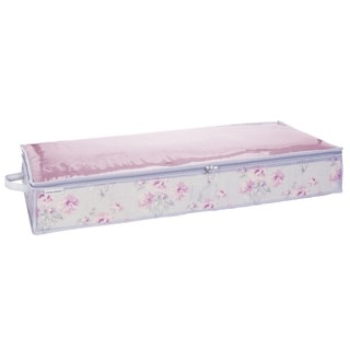 Laura Ashley Beatrice Grey/Pink Under-the-bed Storage Bag
