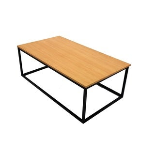 Wooden Top Metal Frame Coffee Table