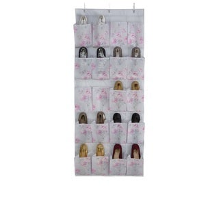 Laura Ashley Beatrice 20-pocket Non-woven Shoe Organizer