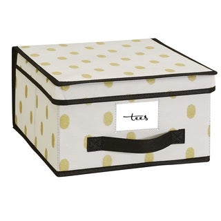 The Macbeth Collection Medium Storage Box in White/Gold
