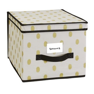The Macbeth Collection White/Gold Large Storage Box
