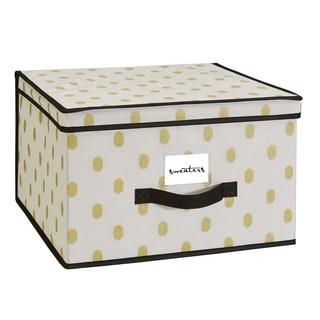 Closetcandie The Macbeth Collection White/Gold Jumbo Storage Box