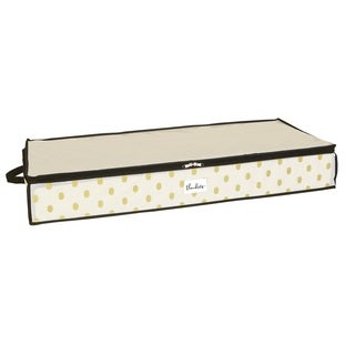 The Macbeth Collection White/Gold Non-woven Under-the-bed Storage Bag