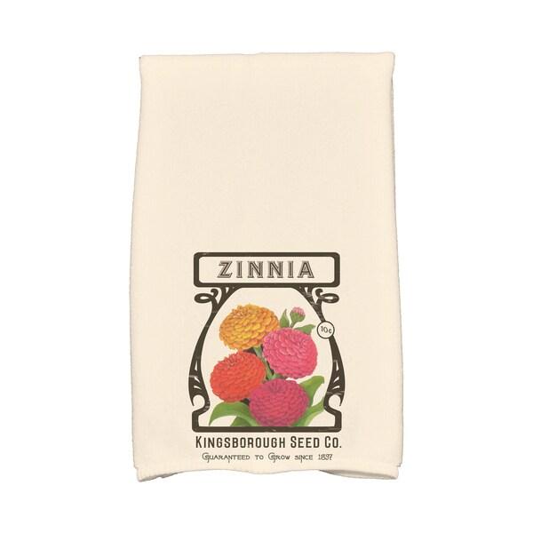16 x 25-inch, Zinnia, Floral Print Kitchen Towel