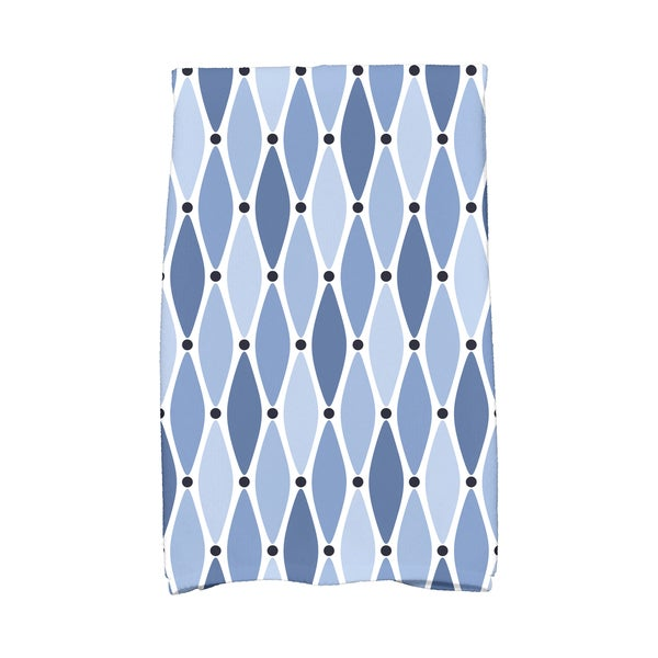 16 x 25-inch, Wavy, Geometric Print Kitchen Towel