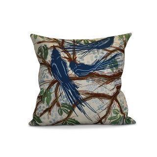 16 x 16-inch Jays, Floral Print Pillow