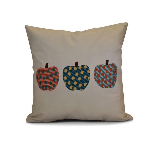 16 x 16-inch, 3 Little Pumpkins, Geometric Print Outdoor Pillow
