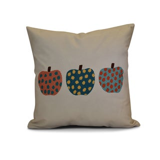16 x 16-inch, 3 Little Pumpkins, Geometric Print Outdoor Pillow