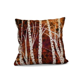 16 x 16-inch, Birch Trees, Floral Print Pillow