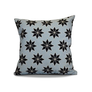 16 x 16-inch, Christmas Stars 2, Geometric Holiday Print Outdoor Pillow