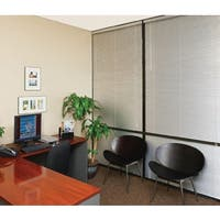 Silver Brushed Aluminum 1-inch x 70 to 107 inches Wide Blind