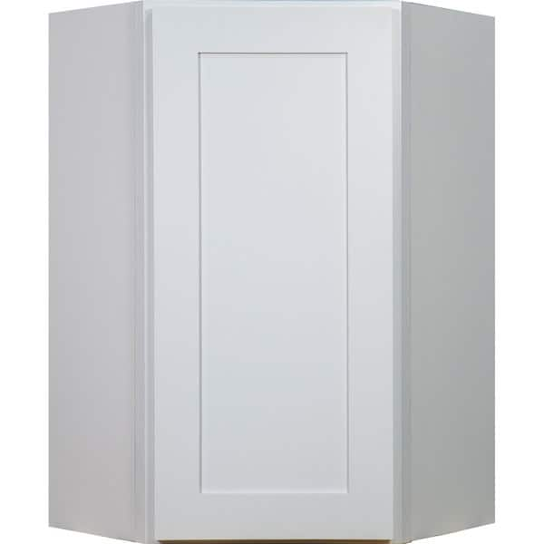 Shop Everyday Cabinets 27-inch White Shaker Diagonal Corner ...