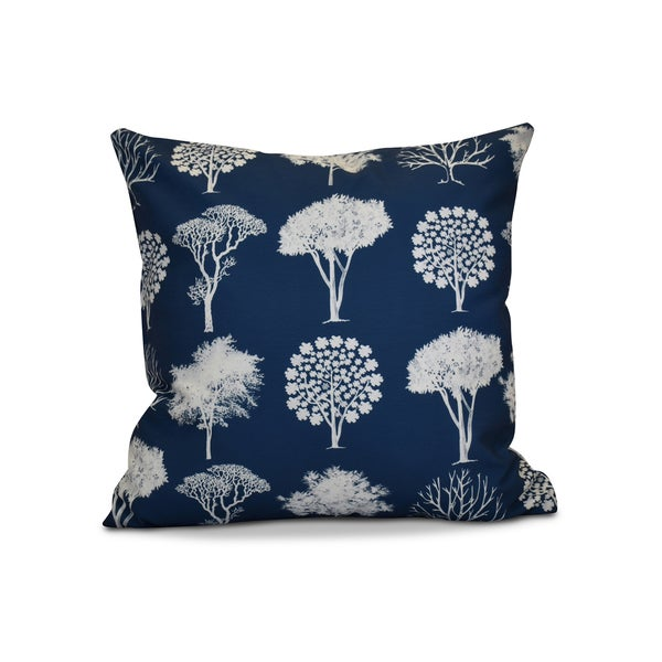 16 x 16-inch, Field of Trees, Floral Print Pillow